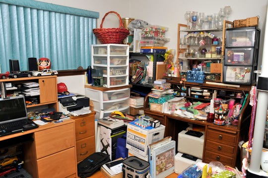 "A ""before"" shot of last year's winner Mark Hale's home office before his makeover."