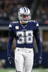 Cowboys strong safety Jeff Heath has 40 tackles in nine game this season.