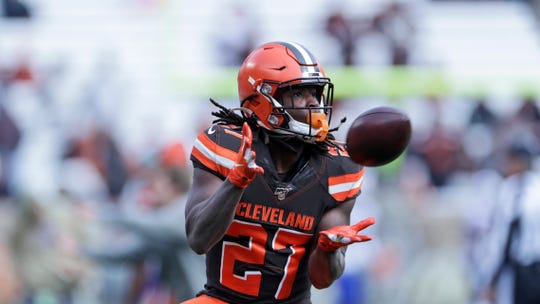 Running back Kareem Hunt debuted last week with the Browns. He likely won't draw much interest as a free agent from the Lions in the offseason.