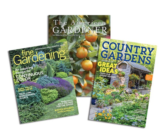 Subscribing to garden magazines ensures easy access to them.