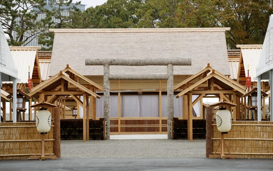 The ritual venue called Daijokyu at the Imperial Palace in Tokyo.