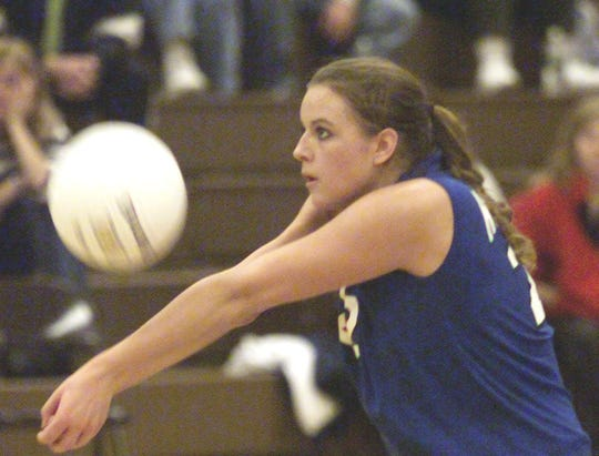 Amanda Hubbard competes for the Horseheads volleyball team in 2003.