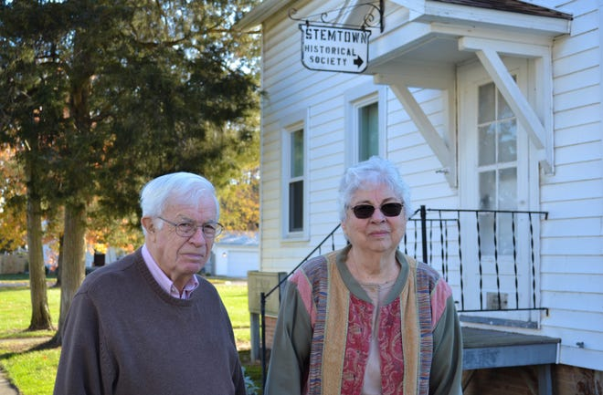 Stemtown Historical Society president Tom Craig and Carolyn Young, whose late husband helped found the society, are helping to host the society's 40th anniversary celebration on Nov. 19 at 7 p.m. The event is free and open to the public.