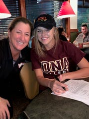 North Fort Myers High School softball player Haley Weaver signed with Iona College on Wednesday.