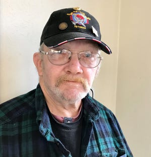 """Harlan """"Butch"""" Moen of Mishicot served in the U.S. Marines in the Vietnam War and participated in an Old Glory Honor Flight on Oct. 23, 2019."""