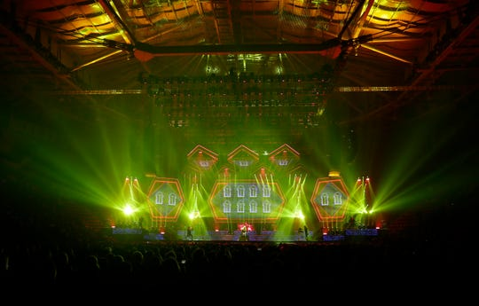 "Trans-Siberian Orchestra kicks off its ""Christmas Eve and Other Stories"" winter tour on Nov. 13, 2019, at the Resch Center in Ashwaubenon, Wis. Sarah Kloepping/USA TODAY NETWORK-Wis."