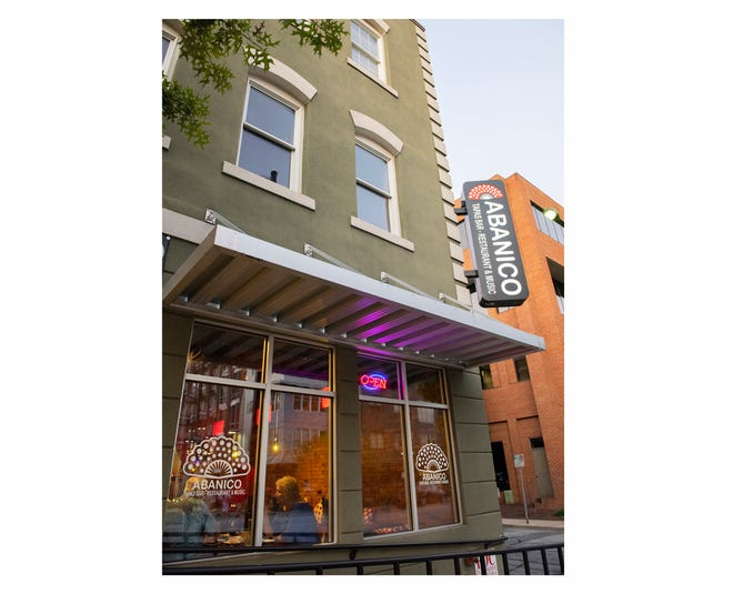 The exterior of Abanico Tapas Bar in downtown Greenville.