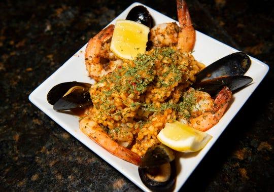 Seafood paella from Abanico