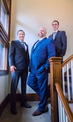 The firm of Kovacich, Snipes and Johnson are representing Montana local governments suing opioid manufacturers, distributors and pharmacies. From left to right: Mark Kovacich, Ben Snipes and Ross Johnson.