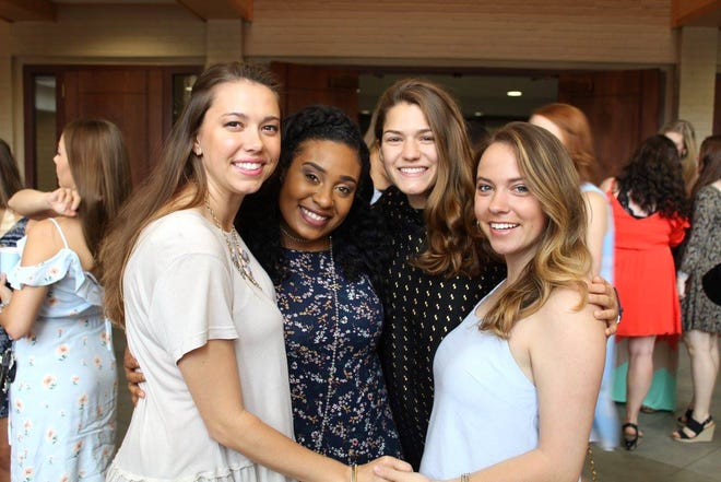 Breosha Murray, second from left, is pictured in this May 2017 photo with some of her Tri Delta sorority sisters. Murray, 21, was killed in a car crash Wednesday, Nov. 13, 2019, on U.S. 49.