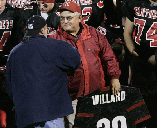 Don Willard retired in 2005 after 39 years as football coach at Knightstown.