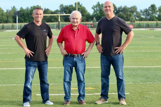 Don Willard with his sons, Aaron (left) and Bruce.