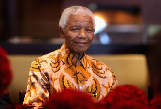 Nelson Mandela smiled during a lunch to Benefit the Mandela Children's Foundation as part of the celebrations of the opening of the new One&Only Cape Town resort on April 3, 2009 in Cape Town, South Africa.