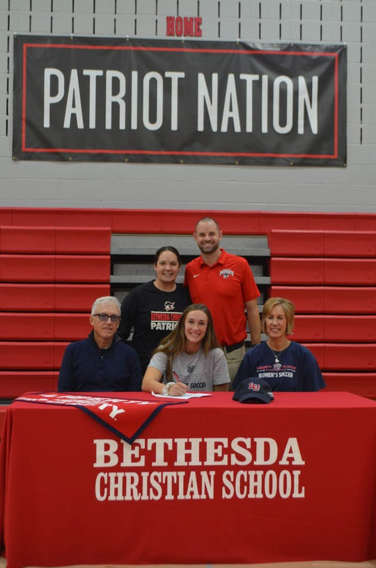 Bethesda Christian's Lena James signed with Liberty soccer.