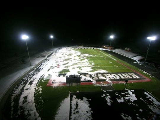 Knightstown High left its lights on Wednesday night after the death of its beloved football coach Don Willard.