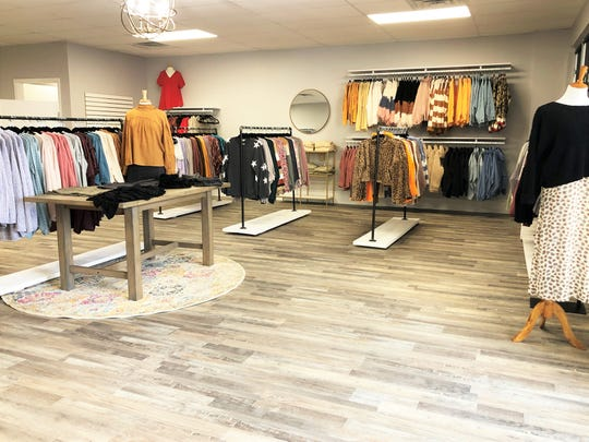 """""""It was a salon, that's why it was so open,"""" said Kaitlyn Howell of her new boutique, Salt & Pepper. """"I had to knock a few walls down, put in a new floor and new paint and it was pretty much ready to go."""""""