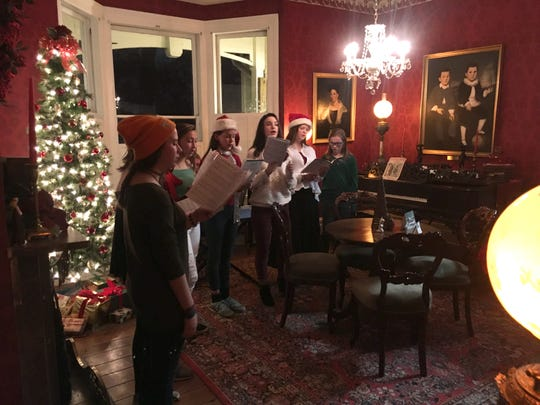 Carolers perform during Mabry-Hazen's annual Christmas tours.
