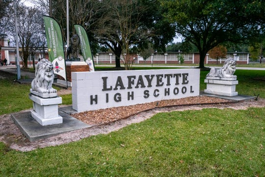 Front of Lafayette high school on November 13, 2019.