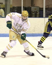 Defenseman Dominic Rossi is one of seven third-year varsity hockey players returning for Howell.