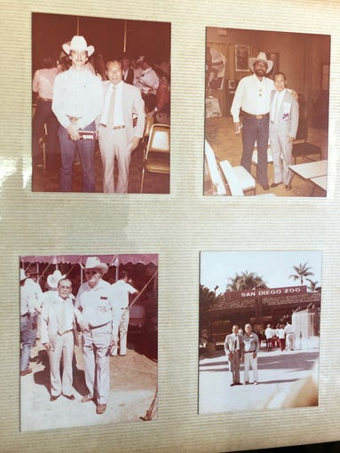 Family photo albums that I recently discovered contain images of my grandfather, always sharply dressed in a suit and tie, posing beside American ranchers in their cowboy hats and jeans.