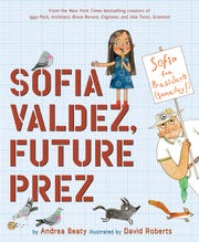 Andrea Beaty and illustrator David Roberts have a new book out that's expected to be a hit: Sofia Valdez, Future Prez