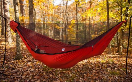 Sheltwowee Hammock Company's 1/2 Shell ZIP Hammock, available at Quest Outdoors and online at shellhammocks.com