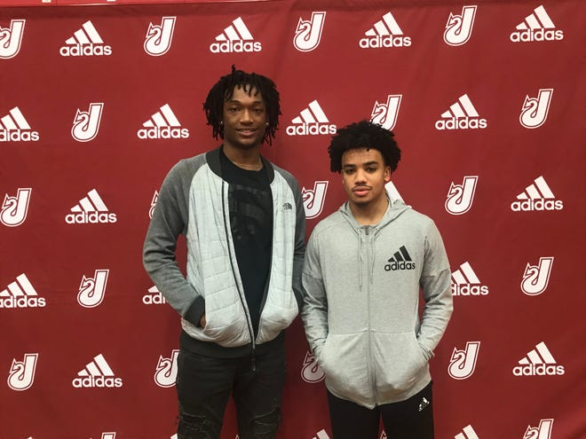 Tre Coleman and Jacob Jones of Jeffersonville signed to play at Division I colleges Wednesday.