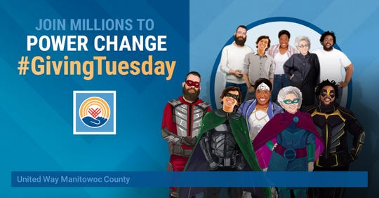 United Way Manitowoc County is asking those in the community to channel their inner superhero this Giving Tuesday.