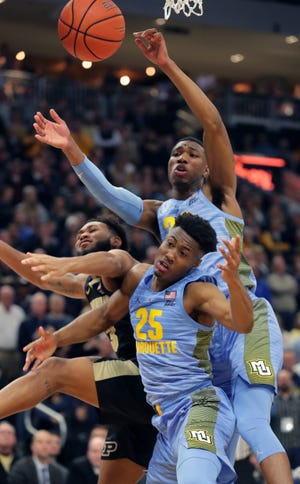 Marquette seniors Koby McEwen and Jamal Cain have both entered the NCAA transfer portal.