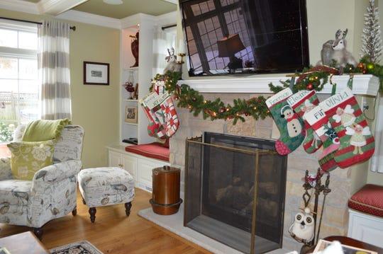 Nancy Wilke made Christmas stockings for her whole family.