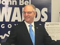 Gov. John Bel Edwards rallied his supporters Thursday in Shreveport.