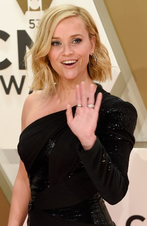 Reese Witherspoon on the red carpet at the 53rd Annual CMA Awards at Music City Center Wednesday, Nov. 13, 2019 in Nashville, Tenn.