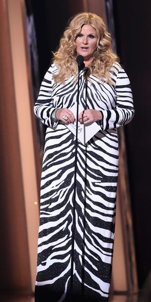 Trisha Yearwood speaks at the 53rd Annual CMA Awards at Bridgestone Arena Wednesday, Nov. 13, 2019 in Nashville, Tenn.