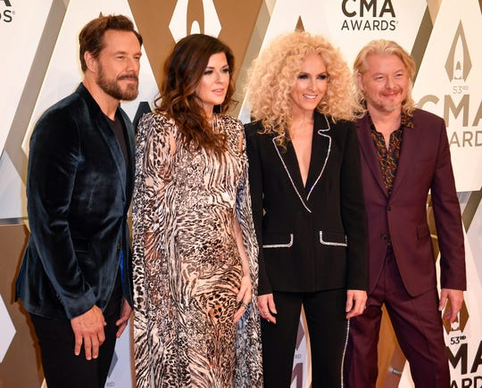 Little Big Town on the red carpet during the 53rd Annual CMA Awards at Music City Center in Nashville, Tenn., Wednesday, Nov. 13, 2019.