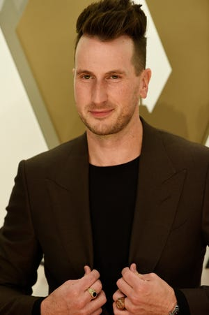 Russell Dickerson on the red carpet at the 53rd Annual CMA Awards at Music City Center Wednesday, Nov. 13, 2019 in Nashville, Tenn.