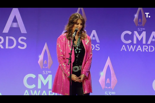 Jenee Fleenor became the first woman to win the CMA Award for Musician of the Year.