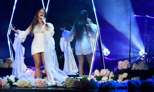 Maren Morris performs at the 53rd annual CMA Awards at Bridgestone Arena on Wednesday, Nov. 13, 2019, in Nashville.