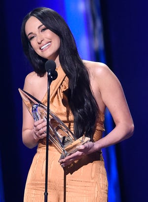 Kacey Musgraves accepts the Female Vocalist of the Year award at the 53rd Annual CMA Awards at Bridgestone Arena Wednesday, Nov. 13, 2019 in Nashville, Tenn