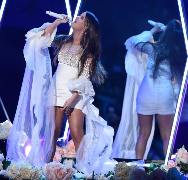 Maren Morris performs at the 53rd annual CMA Awards at Bridgestone Arena on Nov. 13, 2019, in Nashville.