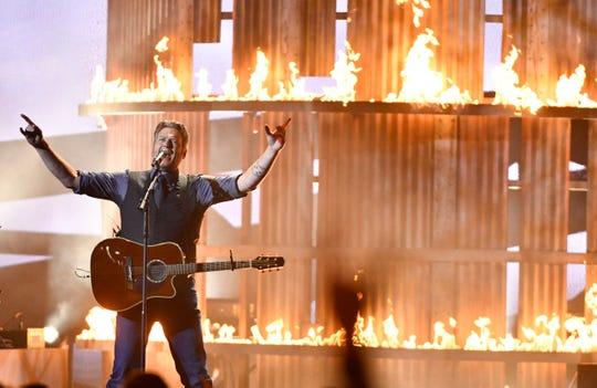 Blake Shelton performs at the 53rd Annual CMA Awards at Bridgestone Arena Wednesday, Nov. 13, 2019 in Nashville, Tenn.