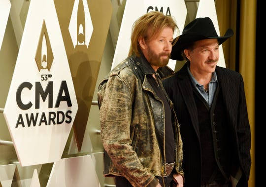 Brooks and Dunn on the red carpet at the 53rd Annual CMA Awards at Music City Center Wednesday, Nov. 13, 2019 in Nashville, Tenn.