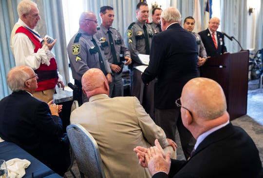 Members of Collier County Sheriff's office receive awards during the annual public service awards presentation on Thursday, November 14, 2019, at the Tiburón Golf Club in North Naples.