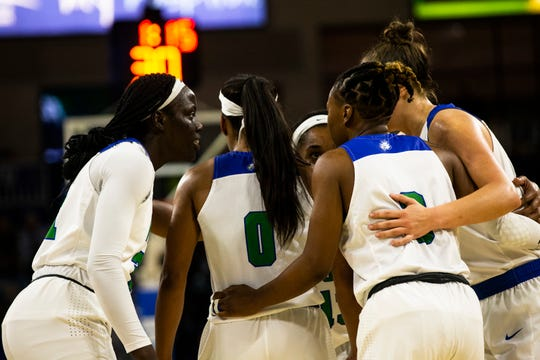 The Florida Gulf Coast University women's basketball team hosted University of Central Florida during its regular season game on Wednesday, Nov. 13, 2019, at Florida Gulf Coast University.