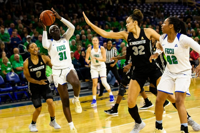 The Florida Gulf Coast University women's basketball team hosts University of Central Florida during its regular season game on Wednesday, November 13, 2019, at Florida Gulf Coast University.