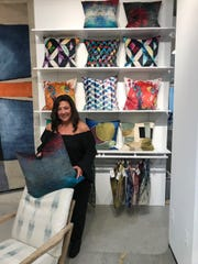 Anna Maria Mannarino of Mannarino Designs Inc. in Holmdel introduced her own line of printed velvet pillows earlier this year.