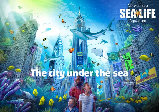 New Jersey SEA LIFE Aquarium at American Dream gave a sneak peek of the aquarium design during a press conference in Weehawken on November 14, 2019. These are renderings of the design.