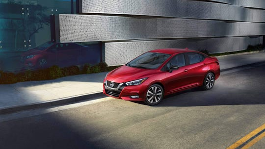 The 2020 Nissan Versa sedan is all-new, longer, lower and wider than its predecessor, and mimics European luxury brands by offering extra-cost exterior paint jobs