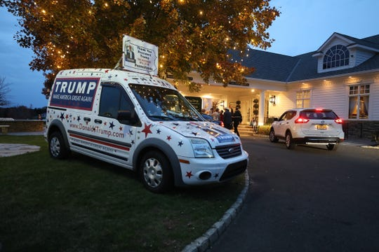 Outside the New Jersey Women for Trump event at the Eagle Oaks Golf Club in Farmingdale, NJ on November 7, 2019.