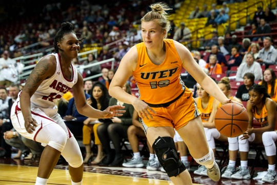 The NMSU Aggies face off against the UTEP Miners at the Pan American Center in Las Cruces on Wednesday, Nov. 13, 2019.
