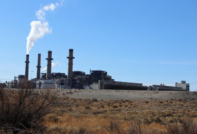 The San Juan Generating Station is pictured, Thursday, Nov. 14, 2019, from the San Juan Mine.